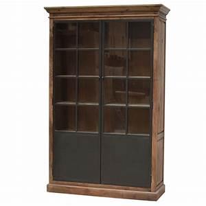 Meuble Bois Fer : vaisselier meuble biblioth que bahut vitrine haut bois fer m tal 22 ~ Melissatoandfro.com Idées de Décoration