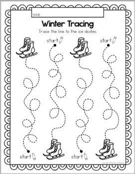 winter tracing fine motor skill activities preschool