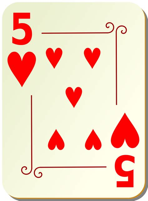 Playing Cards  Free Stock Photo  Illustration Of A Five