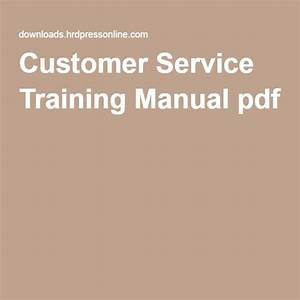 Customer Service Training Manual Pdf