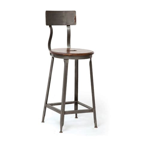 7 industrial bar chairs with metal base
