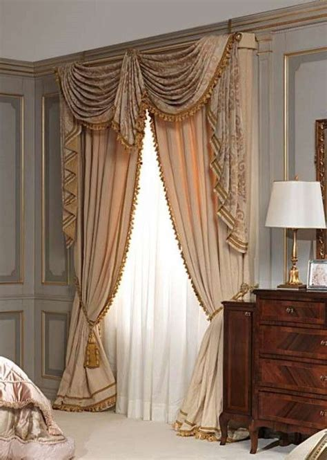 window treatments swag and soft furnishings on