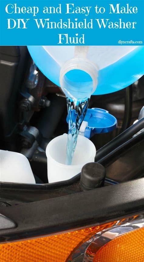 cheap  easy   diy windshield washer fluid diy