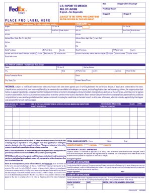 fedex pdf fill online printable fillable blank