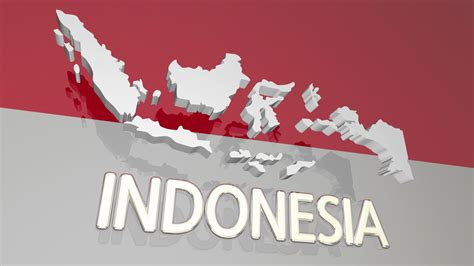 indonesia country nation map asia flag   animation