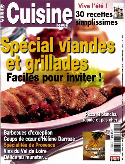revue de cuisine telecharger cuisine revue n 52 spécial viandes et