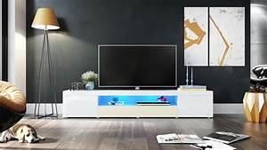 Fernsehtisch Weiß Hochglanz : tv lowboard board fernsehtisch schrank 200cm kommode santiago v2 wei hochglanz ebay ~ Yasmunasinghe.com Haus und Dekorationen