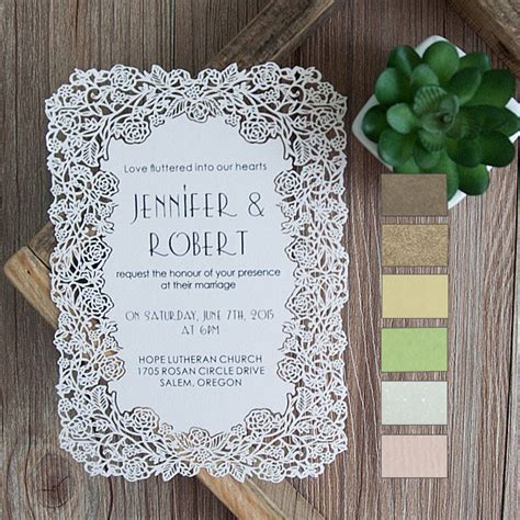 fancy wedding invitations flower laser cut wedding invitations efws001 as low as 1 35