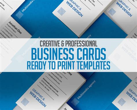 business card template ready to print business card templates 26 new print ready designs