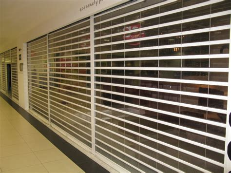 Vertical See Through Polycarbonate Roller Shutter ...