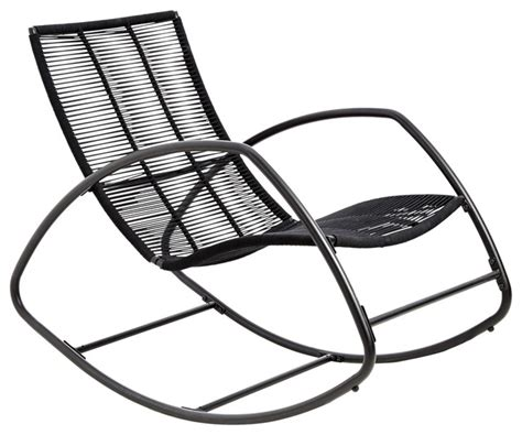 moretta metal black rocking chair contemporary outdoor