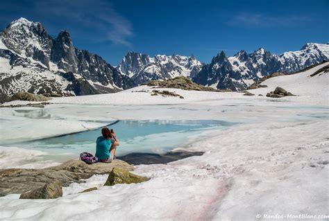 hauteur du mont blanc le lac blanc par le col des montets ou tr 233 le ch randos montblanc
