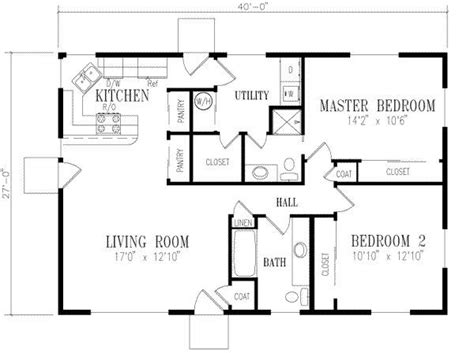 2 bedroom ranch house plans small house floor plans 2 bedrooms search my