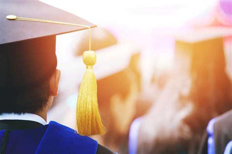 graduation ceremony graduating students without