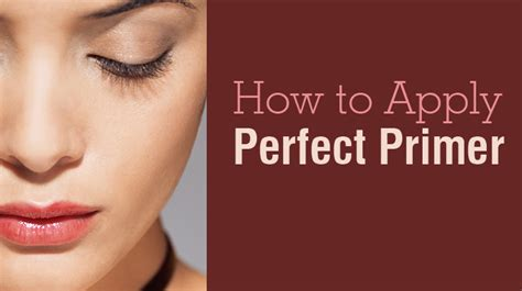 How To Apply The Perfect Primer  Skincare Advice