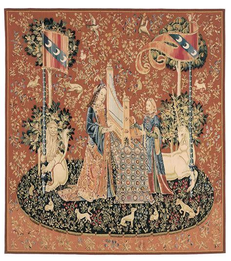 Tapisserie Dame à La Licorne by La Dame A La Licorne L Ouie With The Unicorn The
