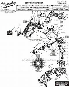 Milwaukee 2629-20 Parts List And Diagram