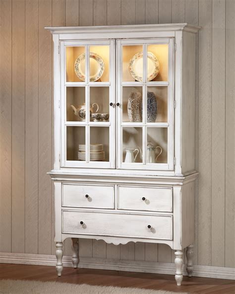 Sideboard With Hutch by Hollyhock Distressed White Buffet With Hutch From