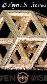 4D Hypercube - Tesseract - Woven Wisdom