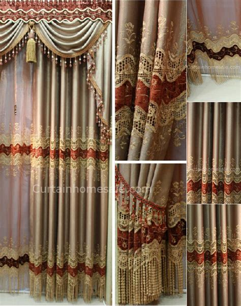 amazing embroidery energy saving casement window curtains