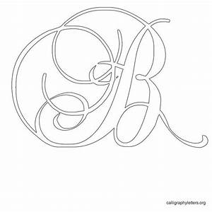 free printable calligraphy letter stencils to print With embroidery stencils of letters