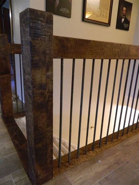 log railing rustic stairs interior stair railing