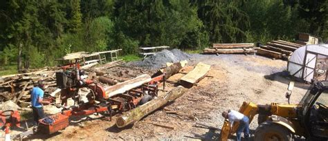 Mobile Sawmill From Builth Wells, Powys
