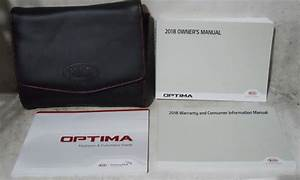 Kia Optima 2018 Factory Original Oem Owner Manual User
