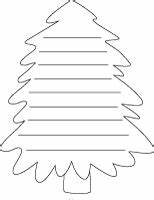 christmas tree shape paper with lines With christmas tree shape poem template
