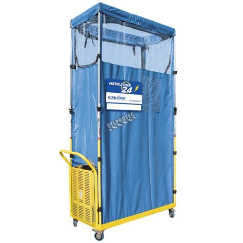 hepa zone  containment unit  battery powered air