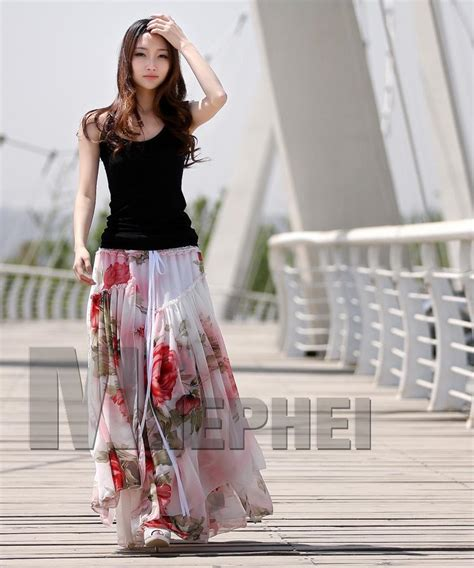 hot fashion ladies maxi dress bohemian chiffon dress