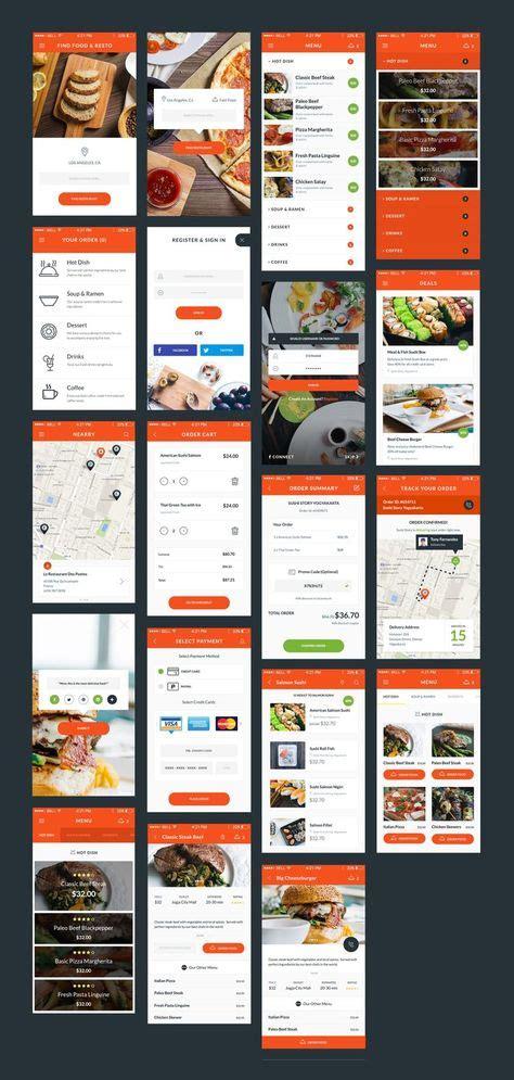 simple layout   app food resto