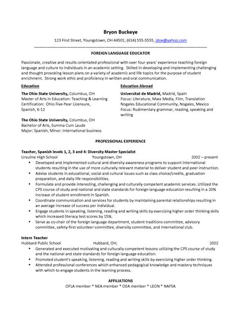 Professional Membership Resume Exle by Resumes And Cover Letters The Ohio State