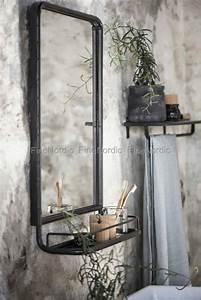 Wandspiegel Metall Schwarz : ib laursen wandspiegel metall regal schwarz ~ Markanthonyermac.com Haus und Dekorationen