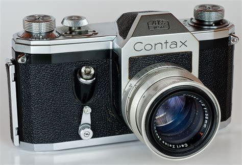 contax camera 1949 slr pentacon level 35mm history zeiss ikon