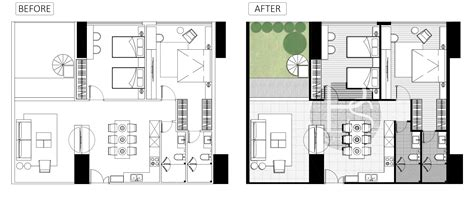 architect plans architecture plan render by photoshop simple style part