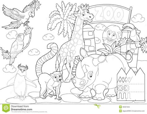 zoo clipart coloring pencil   color zoo clipart