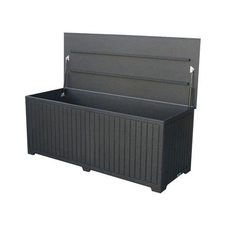 patio deck box 7 eagle one sydney 110 gal large black recycled