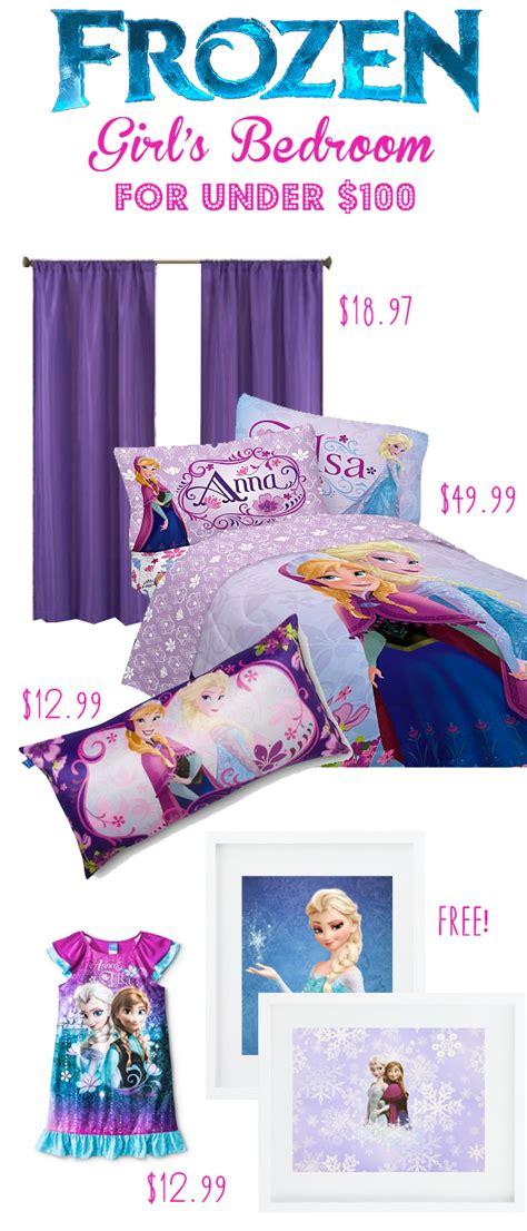 frozen themed girls bedroom    money saving
