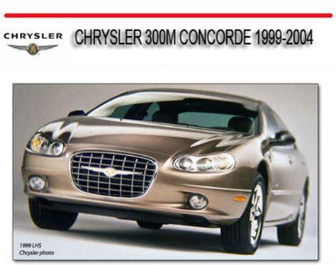 car manuals free online 1999 chrysler 300 user handbook chrysler 300m concorde 1999 2004 repair service manual download m