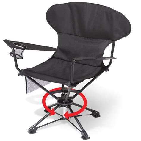 portable chair the only swiveling portable chair hammacher schlemmer