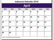Kalender April 2018 Indonesia 2018 Printable Calendar