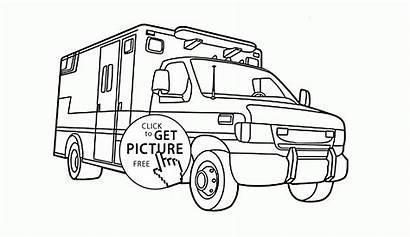 Coloring Truck Rescue Ambulance Transportation Vehicle Vehicles