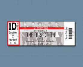 One Direction Concert Ticket Template