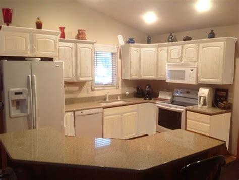 Kitchen cabinets  leave honey oak or paint white? Mocked