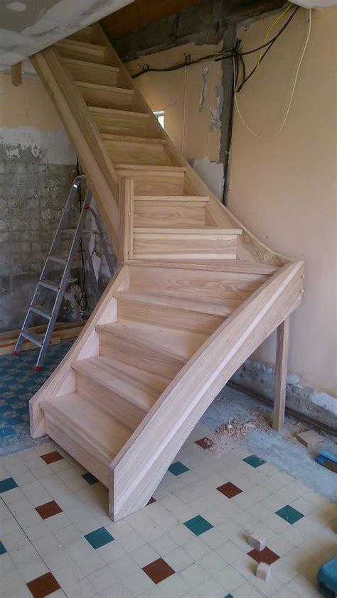 escalier a la franaise escalier quart tournant en fr 234 ne massif brodie agencement