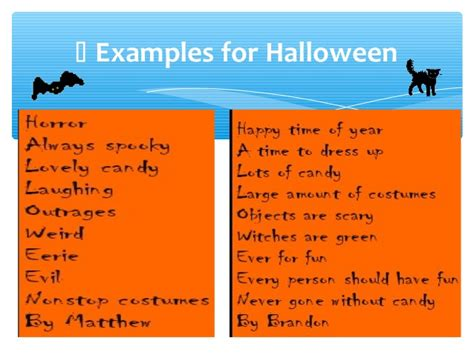 Halloween Acrostic Poem Ideas by Halloween Acrostic Poems That Rhyme Google Search