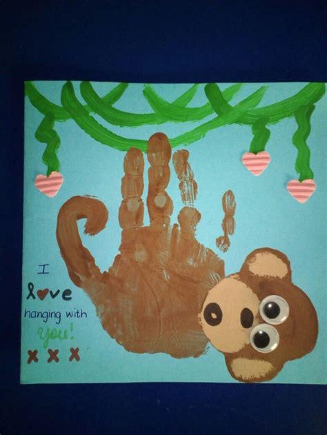 fathers day card craft preshool kindergarten handprint