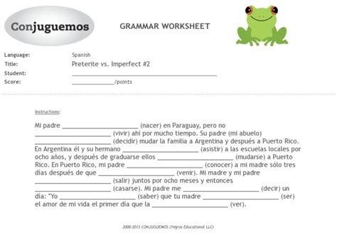 Imperfect Worksheet Free Worksheets Library  Download And Print Worksheets  Free On Compraren