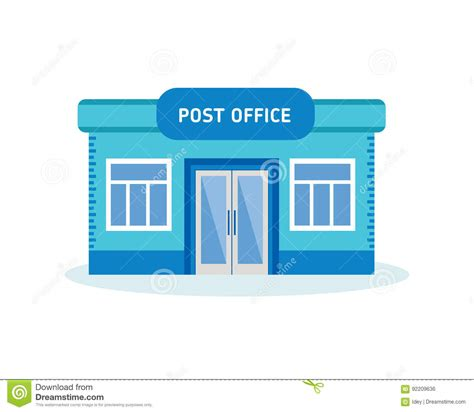Post Office Clipart City Clipart Post Office Building Pencil And In Color